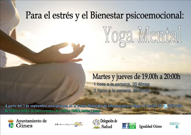 Hasta cuatro modalidades diferentes de yoga oferta la delegación de  Igualdad del Ayuntamiento de Gines 17e3e48cfc01